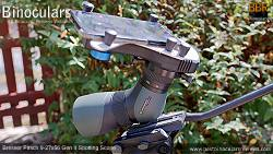 Snypx X-Wing Digiscoping adapter on the Bresser Pirsch 9-27x56 Gen II Spotting Scope