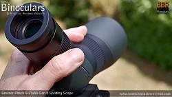 Eyecup on the Bresser Pirsch 9-27x56 Gen II Spotting Scope