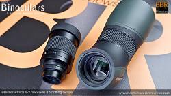 Removable 9-27x Zoom Eyepiece on the Bresser Pirsch 9-27x56 Gen II Spotting Scope