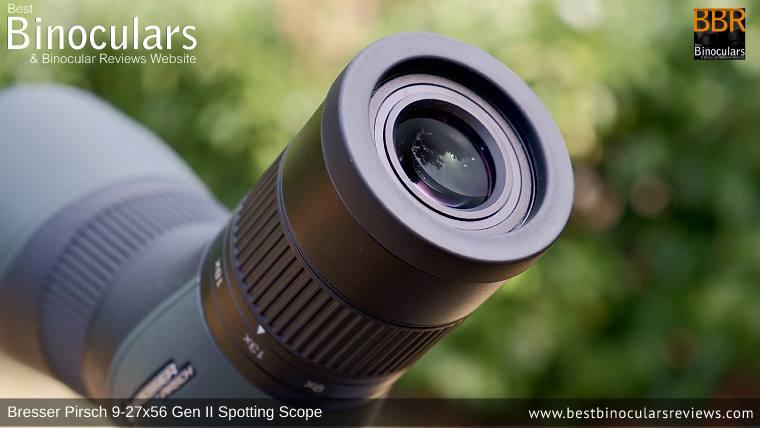 9-27x Zoom Eyepiece on the Bresser Pirsch 9-27x56 Gen II Spotting Scope