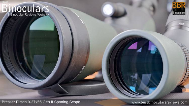 56mm vs 80mm Objective Lenses on the Bresser Pirsch Gen II Spotting Scope