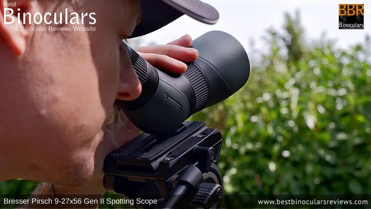 Focusing the Bresser Pirsch 9-27x56 Gen II Spotting Scope