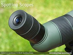 Eyecup on the Celestron LandScout 12-36x60 Spotting Scope