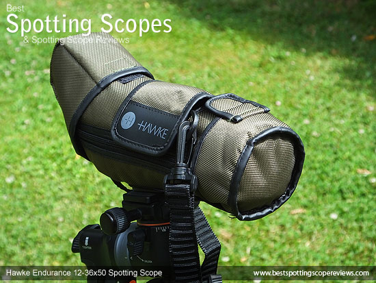 Stay on case for the Hawke Endurance 12-36x50 Spotting Scope