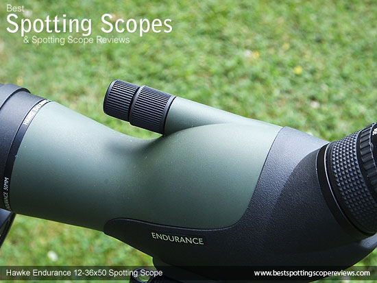 Twin focus wheels on the Hawke Endurance 12-36x50 Spotting Scope