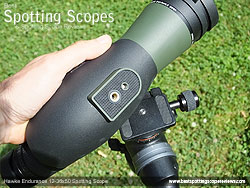 Mounting Plate on the Hawke Endurance 12-36x50 Spotting Scope