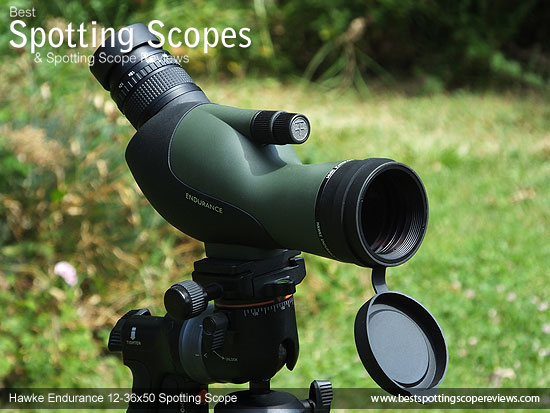 The Angled Hawke Endurance 12-36x50 Spotting Scope