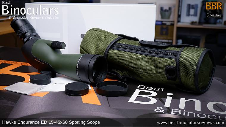 Hawke Endurance ED 15-45x60 Spotting Scope, Accessories & Bresser BX-5 Pro tripod