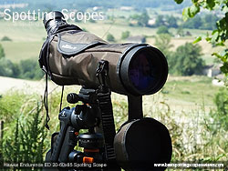 Rain Cover on the Hawke Endurance ED 20-60x85 Spotting Scope