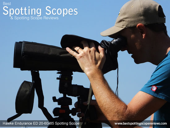 Using the scope with the Rain Cover on