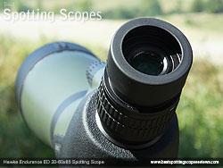 Eyecup on the Hawke Endurance ED 20-60x85 Spotting Scope