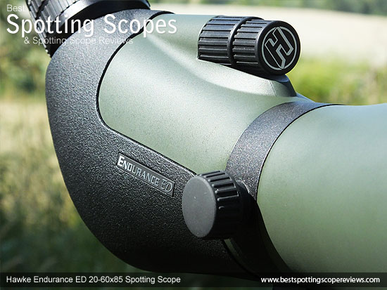 Dual Speed Focus Wheels on the Hawke Endurance ED 20-60x85 Spotting Scope