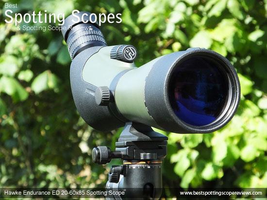The Angled Hawke Endurance ED 20-60x85 Spotting Scope