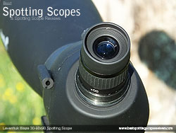 Eyecup on the Levenhuk 30-90x90 Spotting Scope