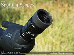 Eyecup on the Opticron MM3 60 GA ED Travelscope