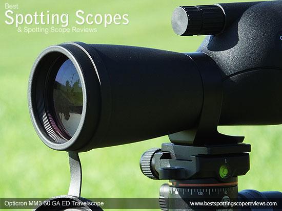 60mm objective lens on the Opticron MM3 60 GA ED Travelscope