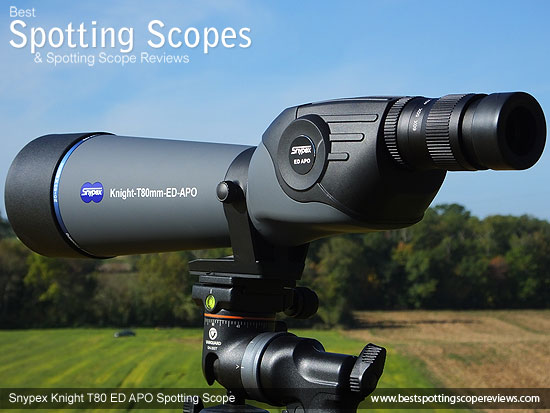 The Snypex Knight T80mm ED APO Spotting Scope and it's box