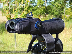 Rear view of the Snypex Stay On Spotting Scope Cover