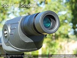 Twist-up Eyecup on the Snypex Knight T80mm ED APO Spotting Scope
