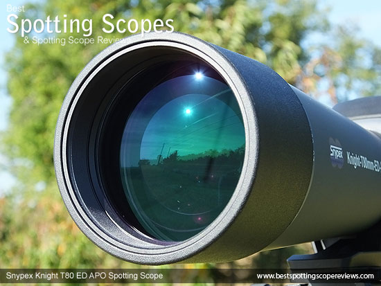 80mm objective lens on the Snypex Knight T80mm ED APO Spotting Scope