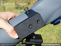 Mounting Plate on the Snypex Knight T80mm ED APO Spotting Scope