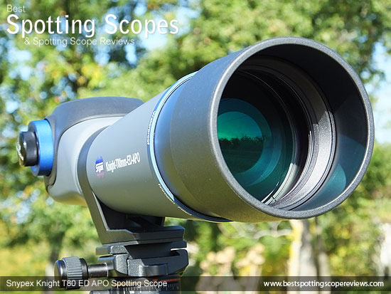 The Sunshield on the Snypex Knight T80mm ED APO Spotting Scope