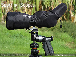 Rain Cover on the Vanguard Endeavor HD 82A Spotting Scope