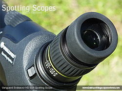 Eyecup on the Vanguard Endeavor HD 82A Spotting Scope