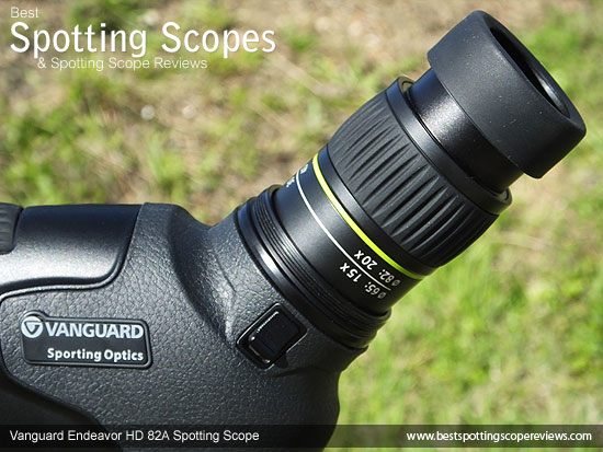 Eyepiece on the Vanguard Endeavor HD 82A Spotting Scope