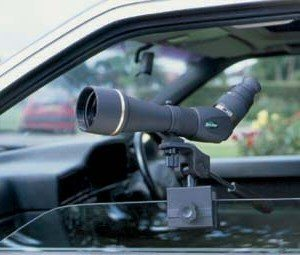 Car Window Mount/Clamp with a Spotting Scope