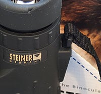 The ClicLoc strap attachment  on the Steiner 10x42 SkyHawk Pro Binoculars
