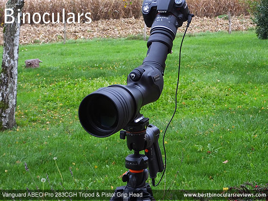 Digiscoping with the Vanguard ABEO Pro 283CGH Tripod and the Vanguard Endeavor HD 82A Spotting Scope