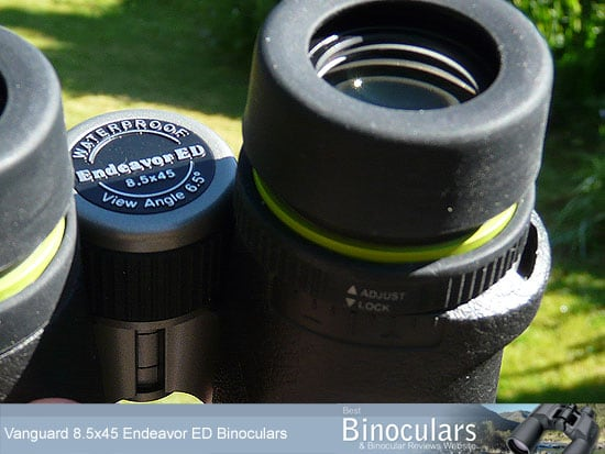 The Lockable Dioprer Adjustment Ring on the Vanguard Endeavor ED binoculars