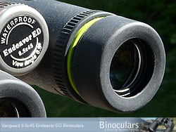 The eyecups on the Vanguard Endeavor ED Binoculars