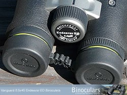 The eye-piece covers (rain guard) on the Vanguard Endeavor ED Binoculars