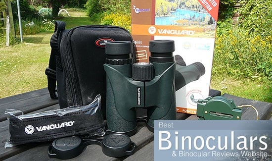 Vanguard Spirit 10x42 Binoculars including carry case, neck strap and included compass