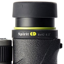 Twist-up eyecups on the Vanguard Spirit 8x42 ED Binoculars
